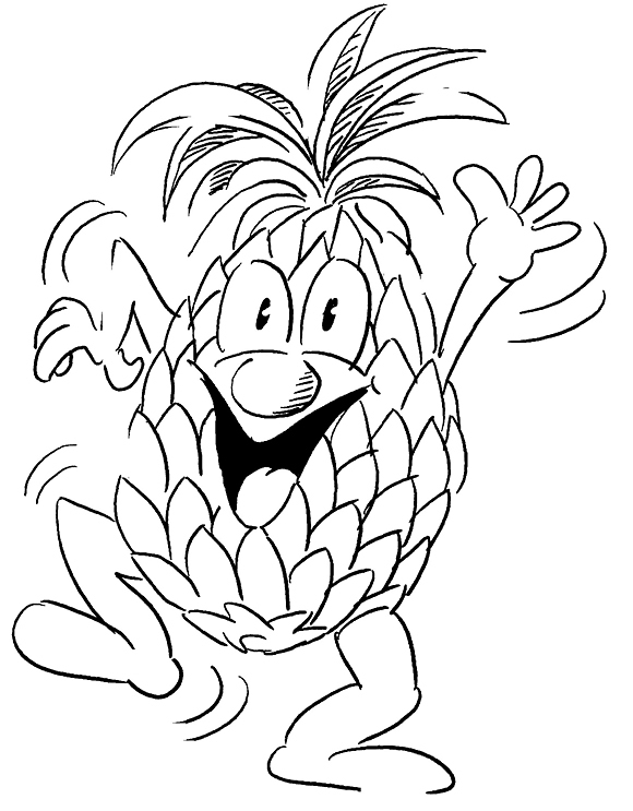 Pineapple Pictures to Color