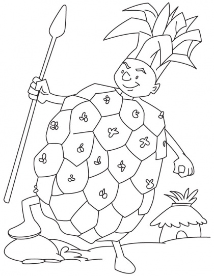 Printable Pineapple Coloring Sheets Free