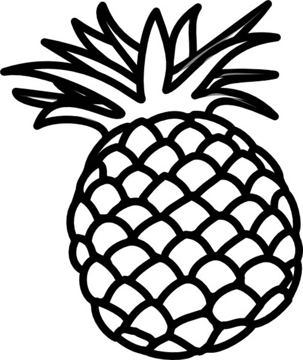 Pineapple Coloring Sheets to Print Out