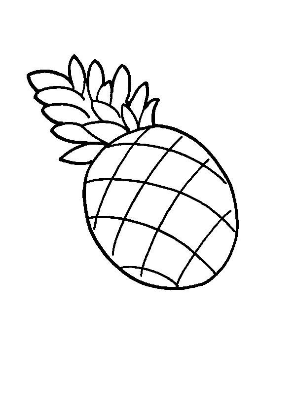 Pineapple Coloring Pictures