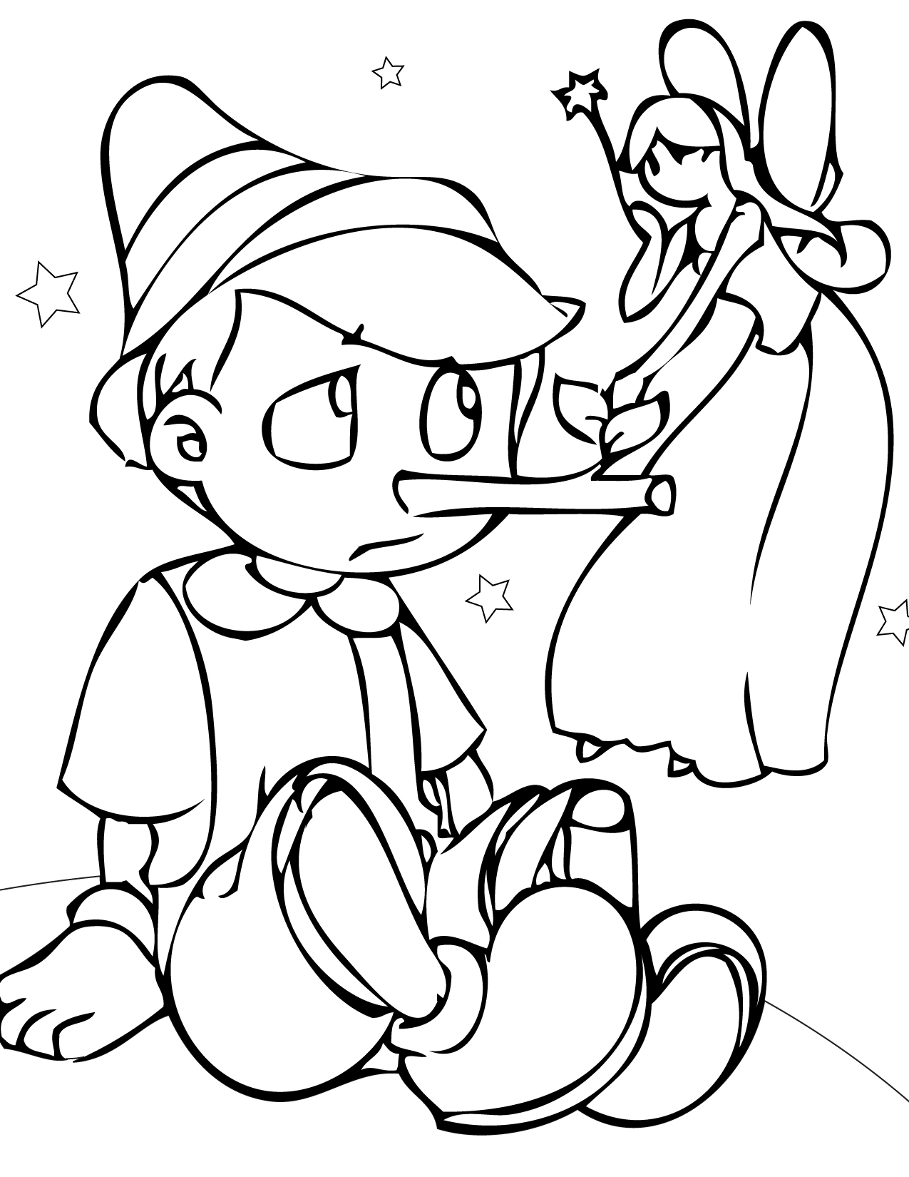 Pinocchio Pictures to Color