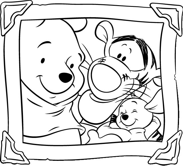 Disney Colouring Book For Kids: Winnie The Pooh Coloring Pages | 579x638