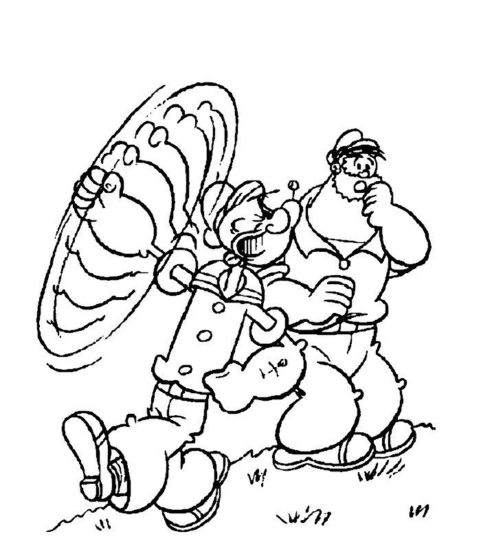 Popeye Coloring Pages Printable Free