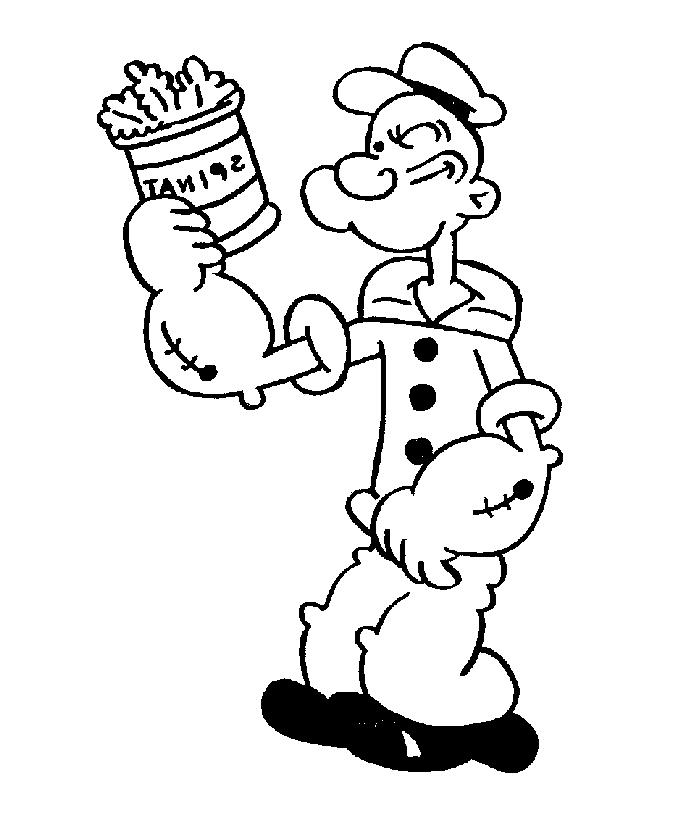 Free Popeye Coloring Pages