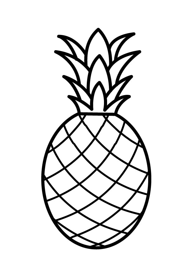 Pineapple Coloring Pages Preschool