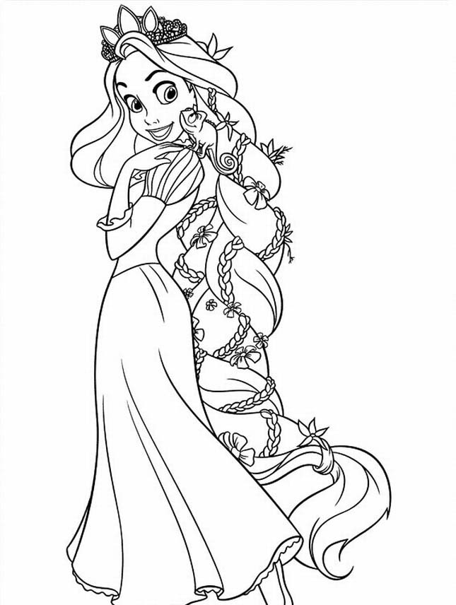 Tangled Princess Rapunzel Coloring Pages