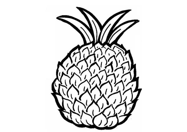 Prineapple Coloring Sheets