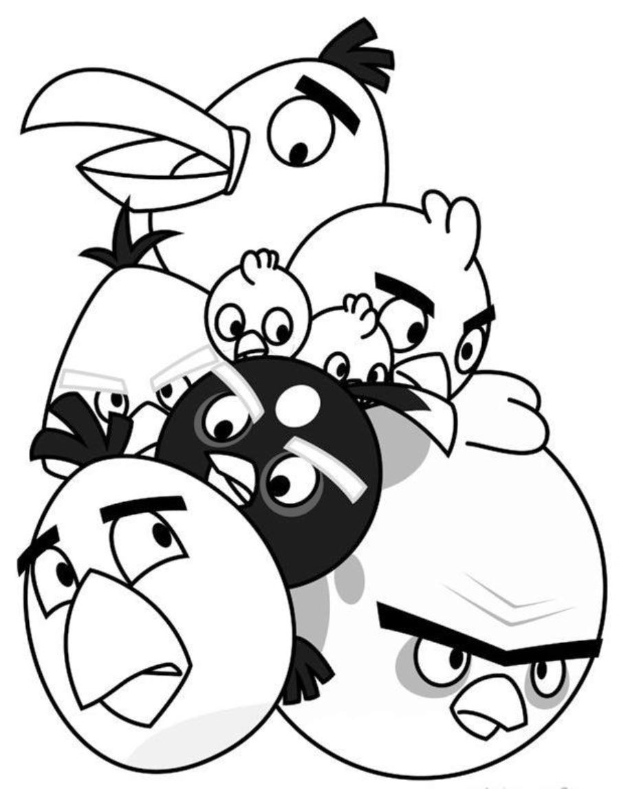 Printable Angry Birds Coloring Pages