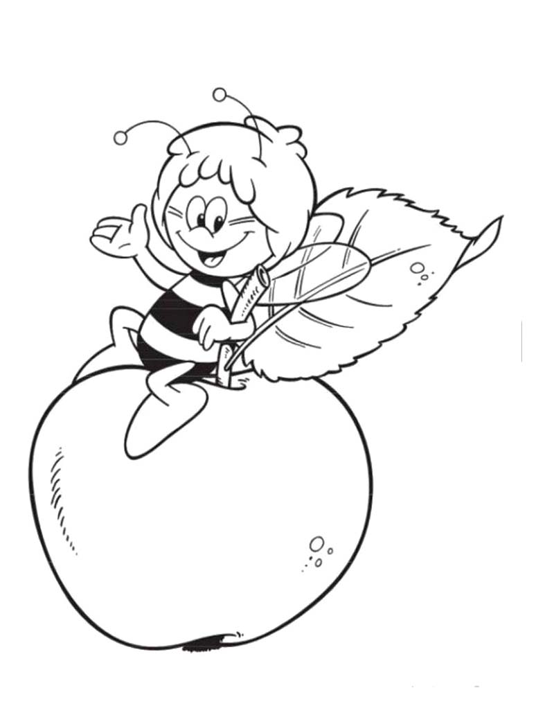 Apple Coloring Pages for Preschoolers 360ColoringPages