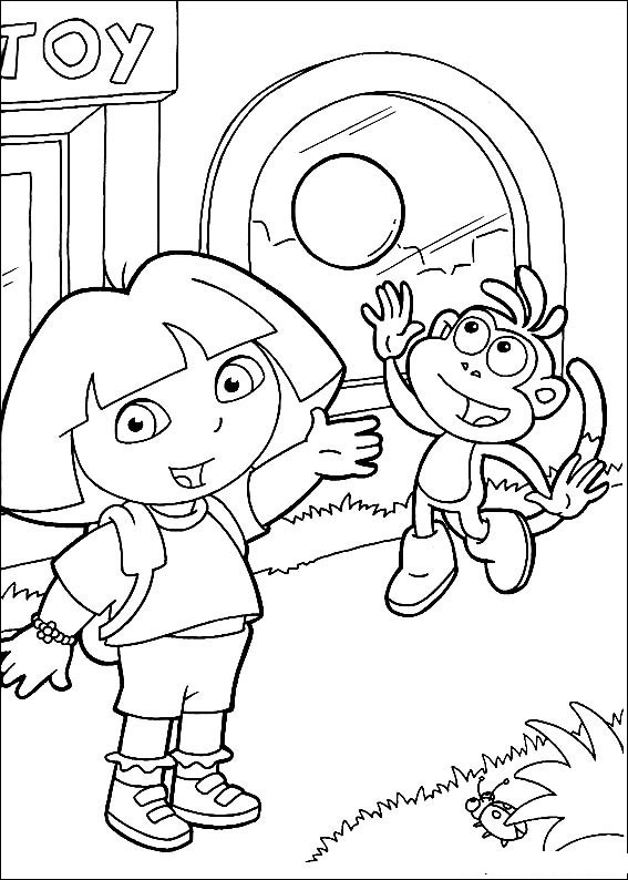 Printable Dora Coloring Pages Free