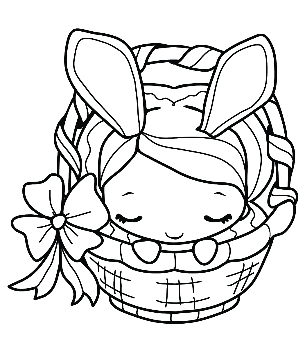 Easter bunny coloring pages 360coloringpages for Free easter coloring page