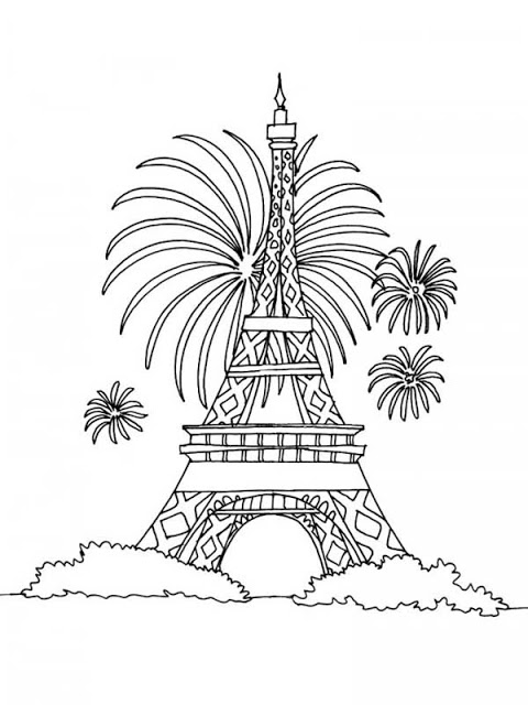 Eiffel Tower Coloring Pages | 360ColoringPages