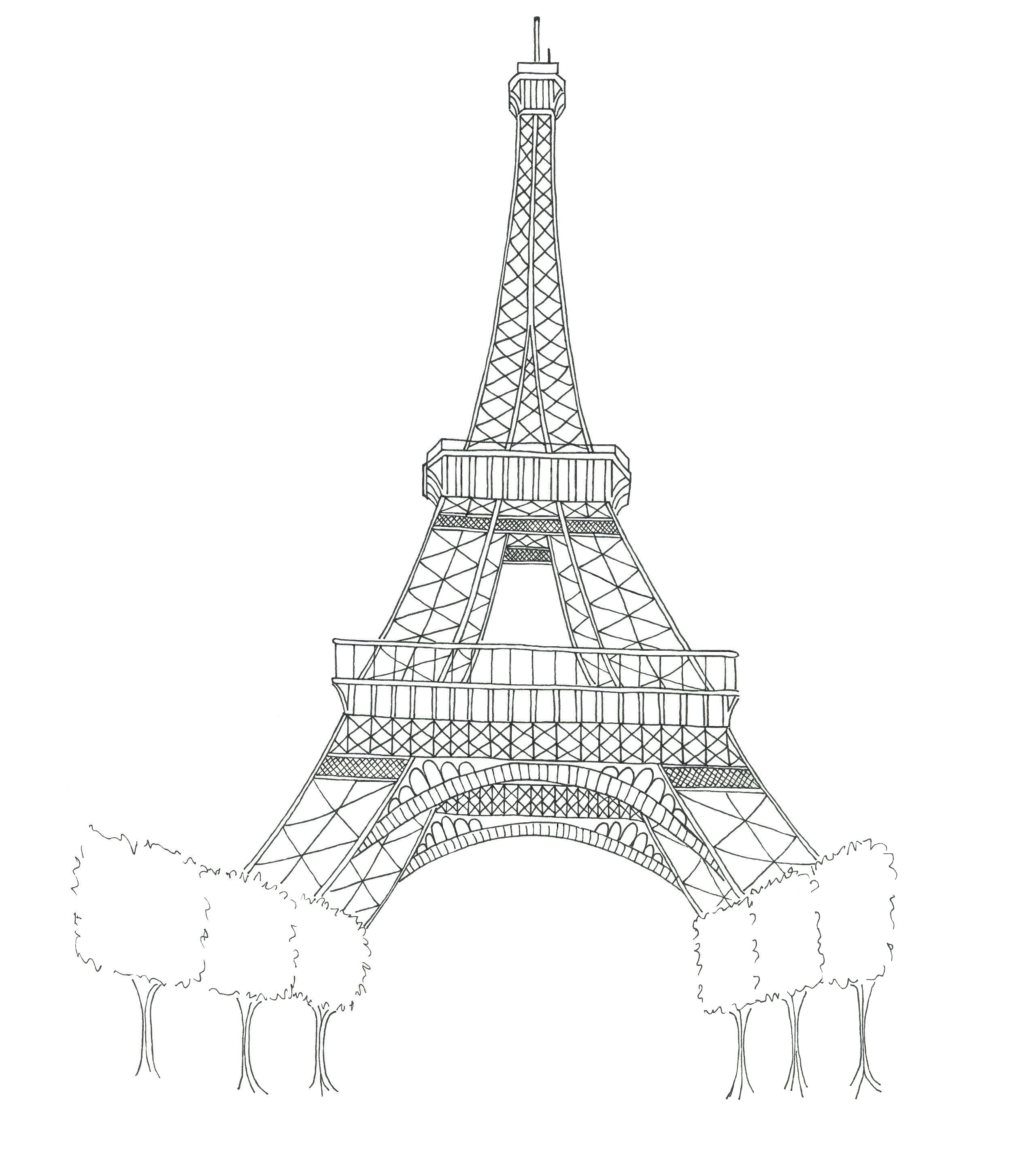 photo relating to Printable Eiffel Tower referred to as Eiffel Tower Coloring Internet pages 360ColoringPages