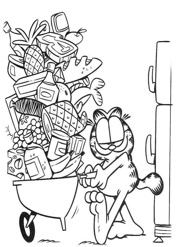 Garfield Coloring Pages for Kids Printable