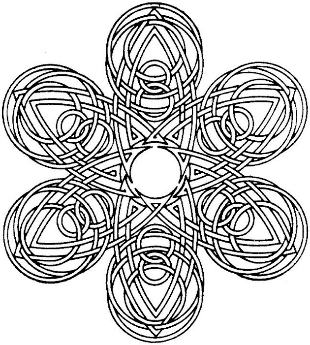 Printable Geometric Coloring Pictures