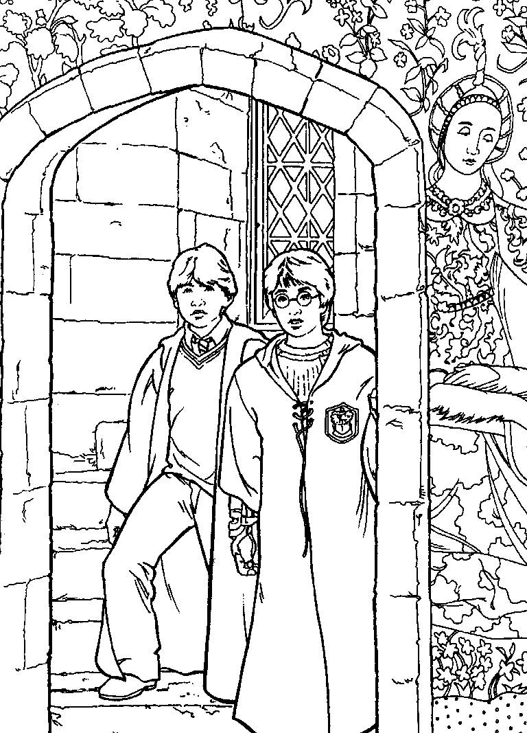 Harry Potter Coloring Pages for Kids Printable