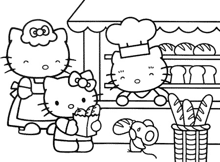 Charmant Hello Kitty Face Coloring Page Printable Hello Kitty Coloring Page