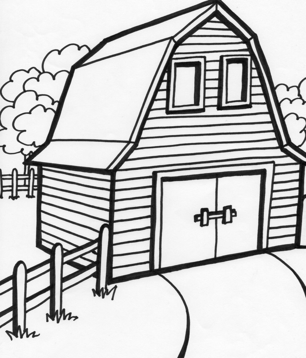 House Coloring Page to Print