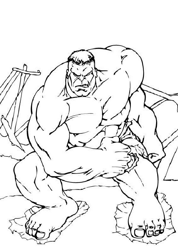Free Printable Hulk Coloring Sheets