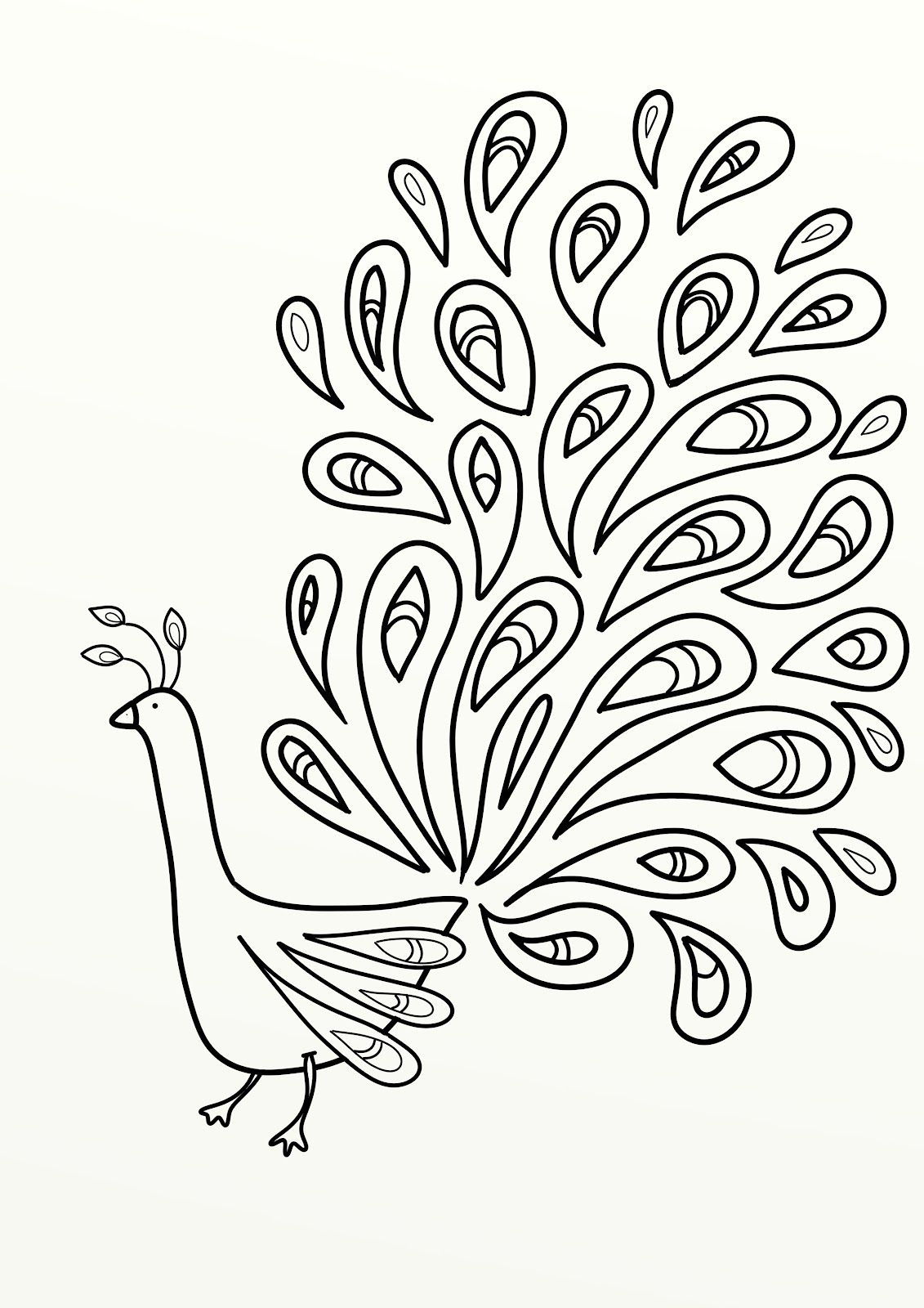 Printable Peacock Coloring Pictures