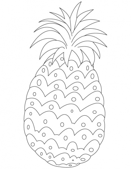 Printable Pineapple Coloring Pictures
