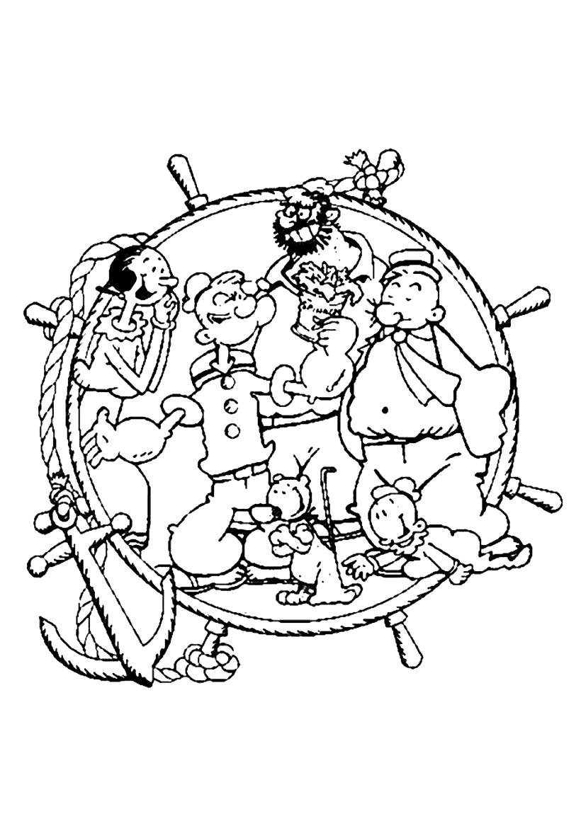 Popeye Coloring Pages to Print