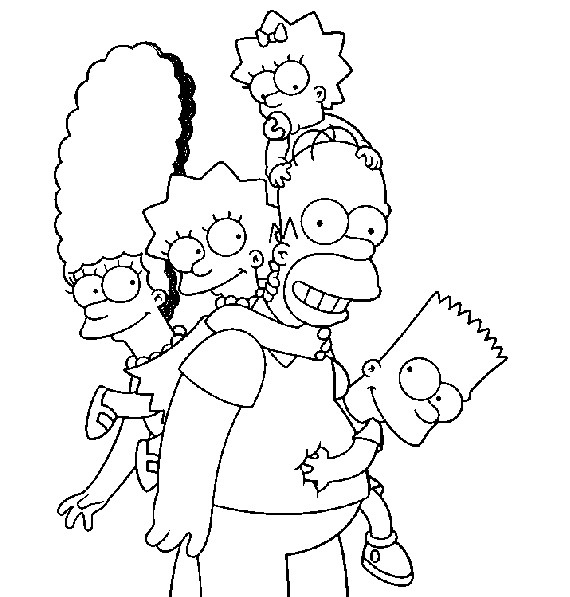Simpsons Coloring Pages Printable Online