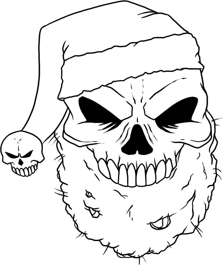 Skull Coloring Sheets for Kids
