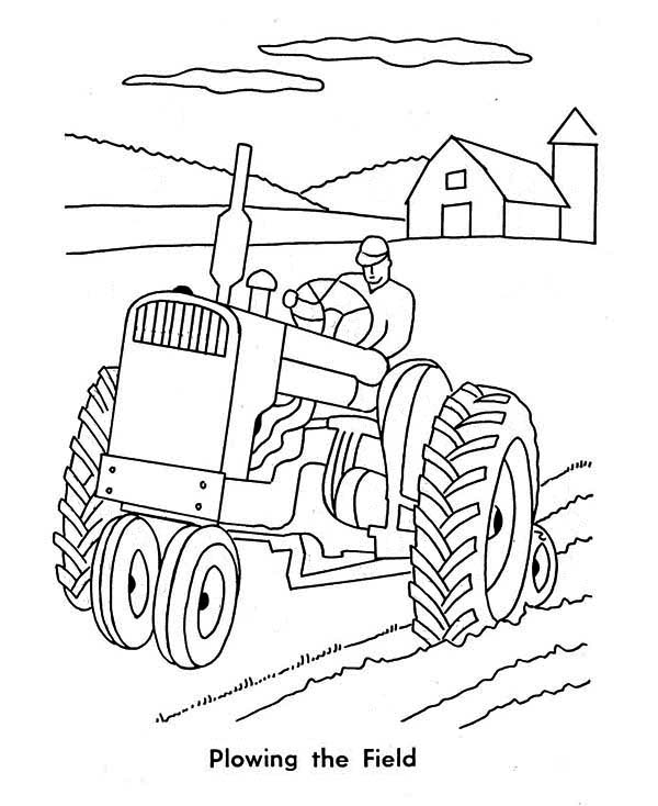 Printable Tractor Coloring Sheets to Print