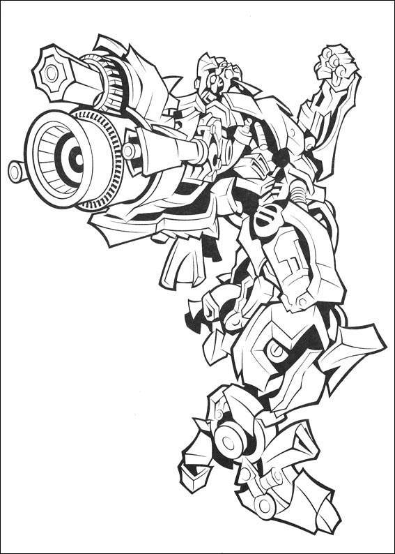 Printable Transformers Coloring Page