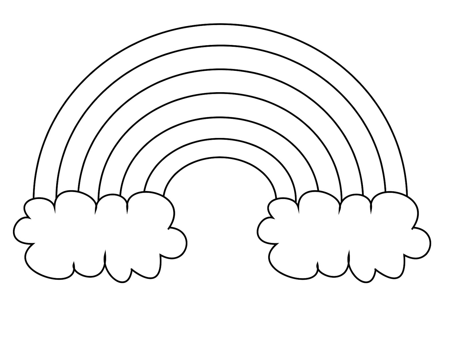 Rainbow Coloring Pages Preschool