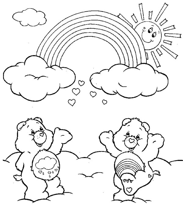 Rainbow Coloring Sheets Free