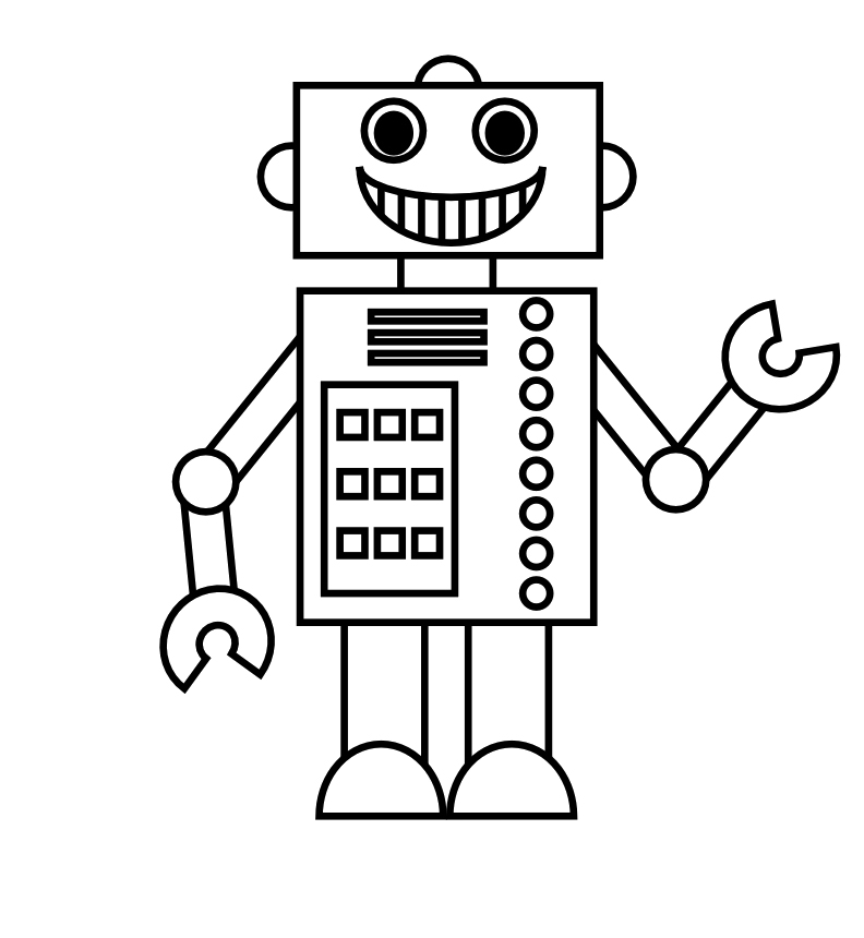Robot Coloring Images