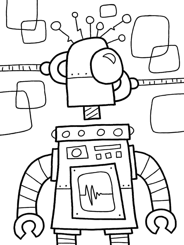 preschool robot coloring pages - photo#8