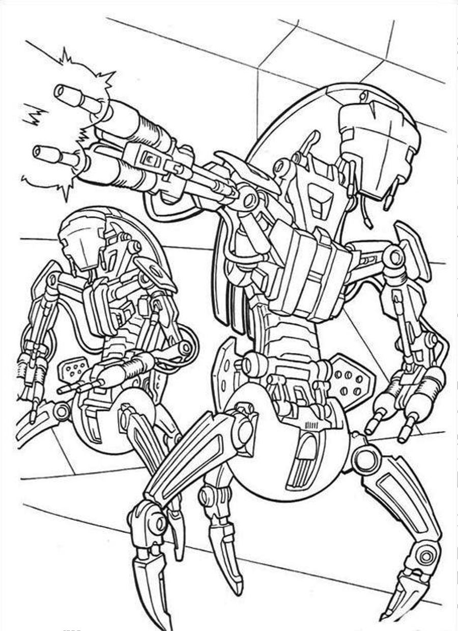Robot Pictures to Color