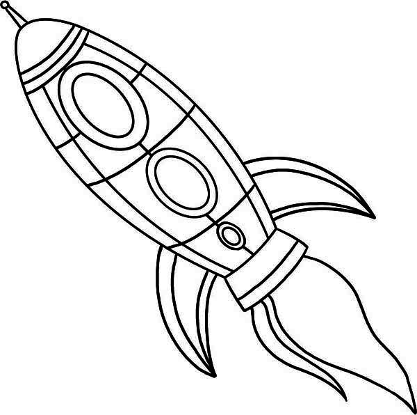 Free Rocket Coloring Sheets for Kids