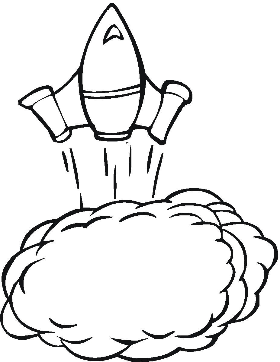 Rocket Coloring Pictures