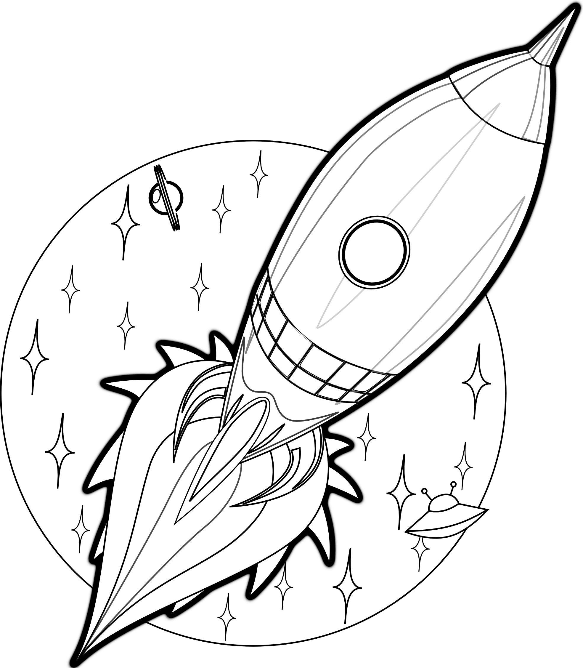 Rocket Picture to Color