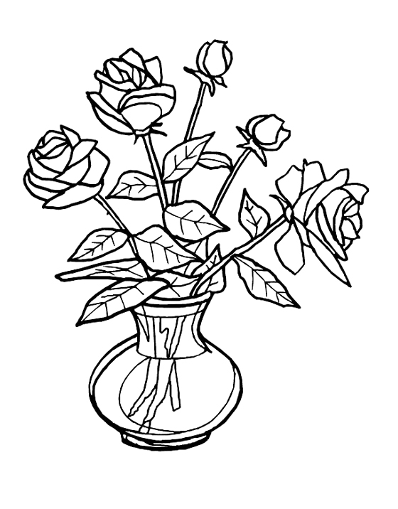 Rose Coloring Sheets for Kids