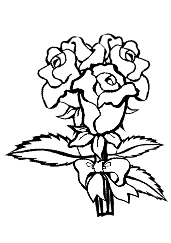 Roses Coloring Pages - GetColoringPages.com | 850x600