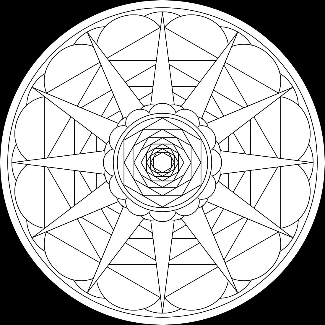 Mandala Coloring Pages 360ColoringPages