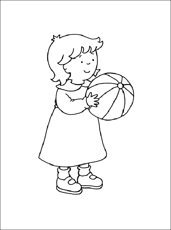 Caillou Coloring Pages Rosie