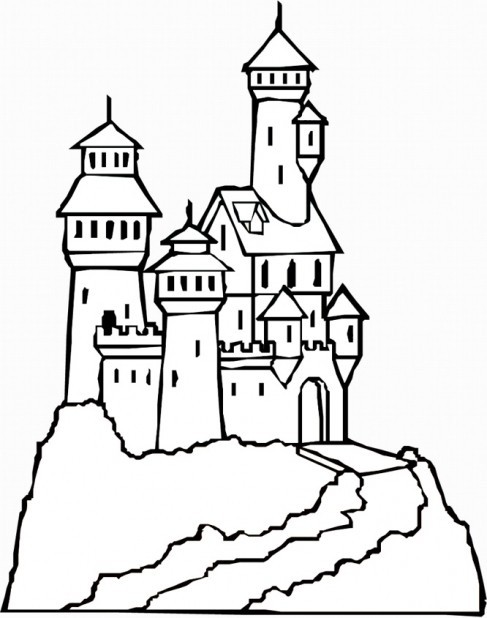 Printable Sand Castle Coloring Pages