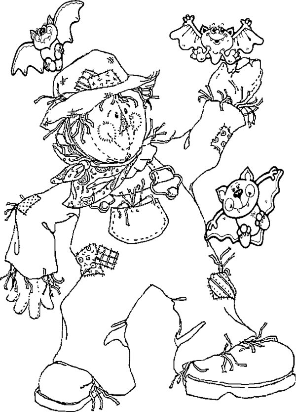 Scarecrow Coloring Pages | 360ColoringPages