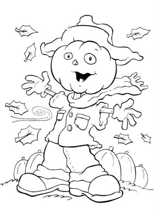 Scarecrow Coloring Sheets Free