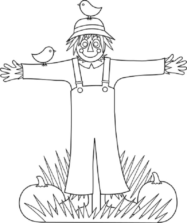 Free Scarecrow Coloring Sheets for Kids