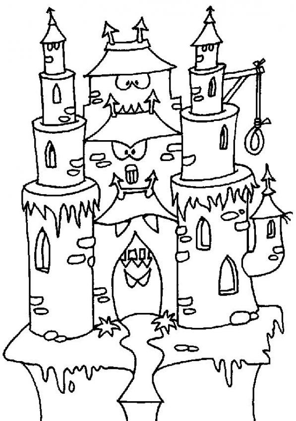 Scary Castle Coloring Page