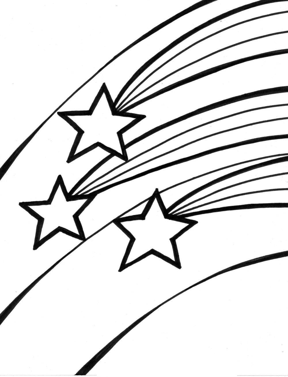 Shooting Star Coloring Sheets