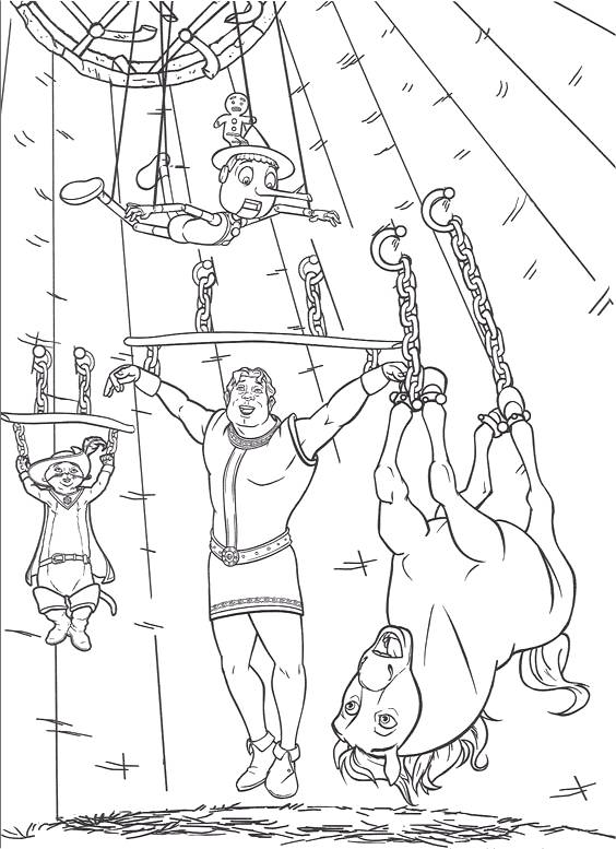 Shrek Forever After Coloring Pages