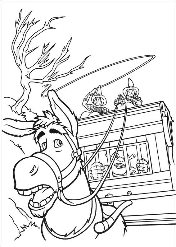 shreks house coloring pages - photo#49